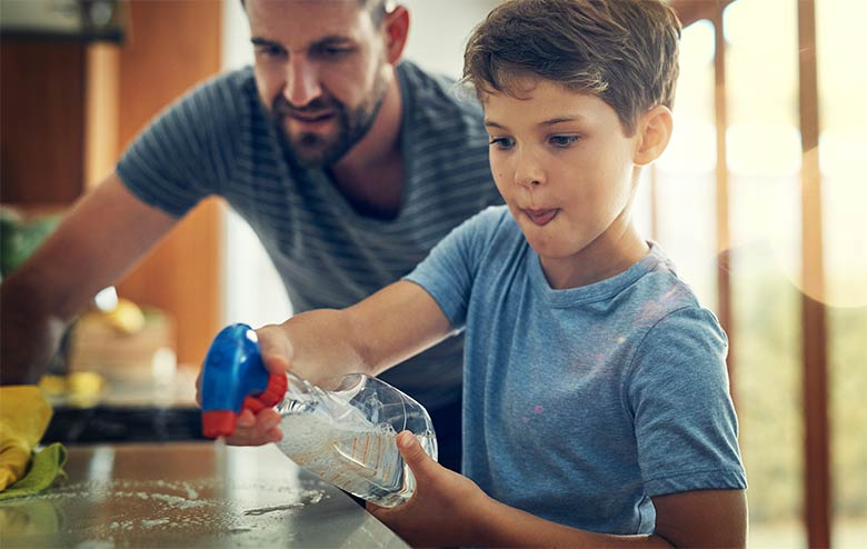 Try These 3 DIY Bathroom Cleaning Products For Kids